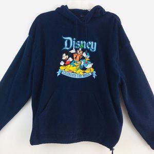 Walt Disney World Navy Embroidered Sweatshirt XXL